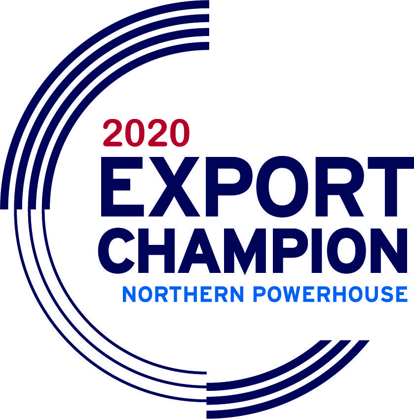Logo of Export Champion as part of the Northern Powerhouse 2020