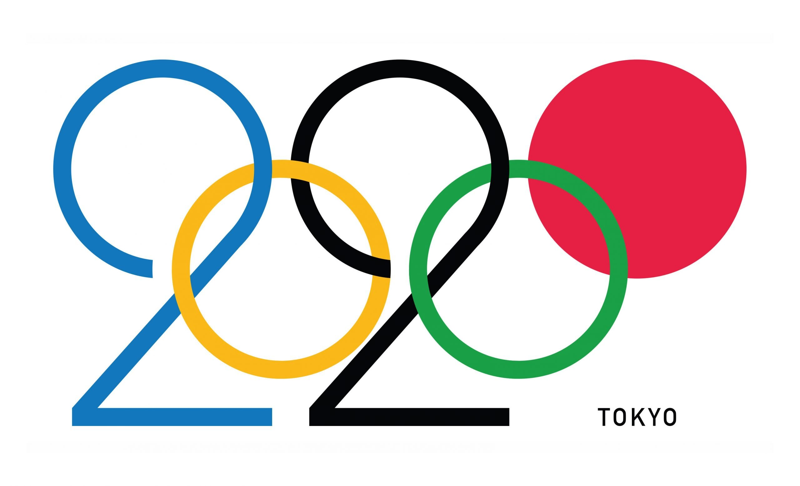 2020 logo for olympics to be hosted in Toyko. This logo is not the official logo but one designed by artist and illustrator Daren Newman. It has the blue, and black as '2's but the top of the 2 looks like a ring. The zeros of 2020 are yellow and green circles. Then finally the red is a filled in circle that represents the red sun that Japan is famous for.